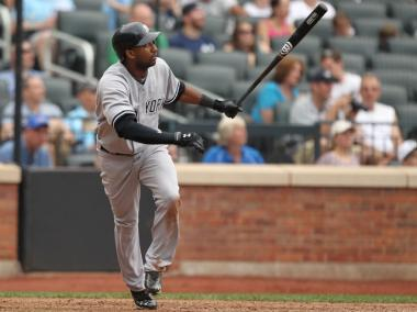 Eduardo Nunez smacked a homer, the Yanks' fifth run of the day, at CitiField.