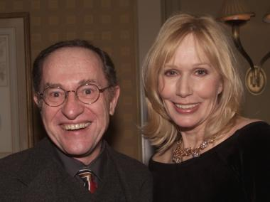 Alan Dershowitz and Sally Kellerman at the opening of night 'More Than You Know', at Feinstein's at the Regency Hotel in 2001.