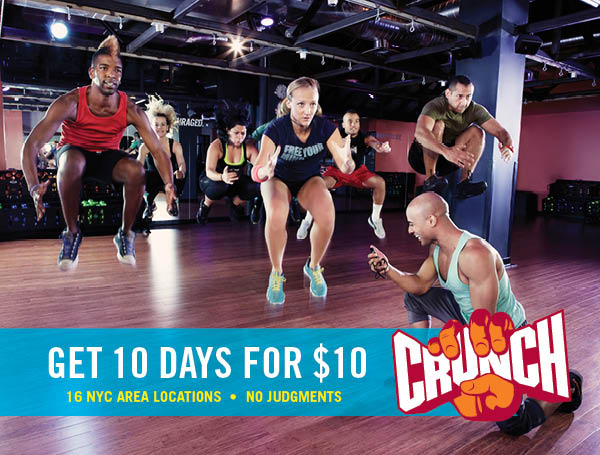 Get 10 Days at Crunch for $10