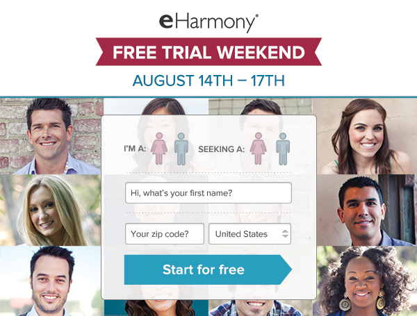 eHarmony: Free Trial, Just For You