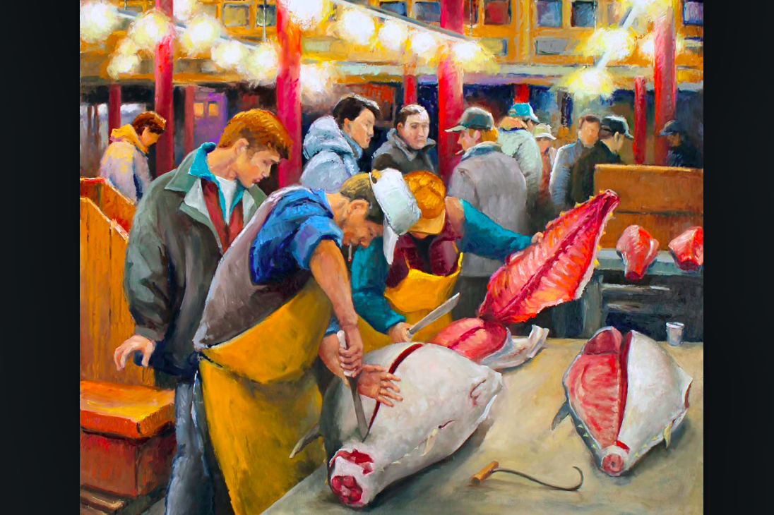 Artist celebrates seaport 39 s fulton fish market 10 years for Fulton fish market online
