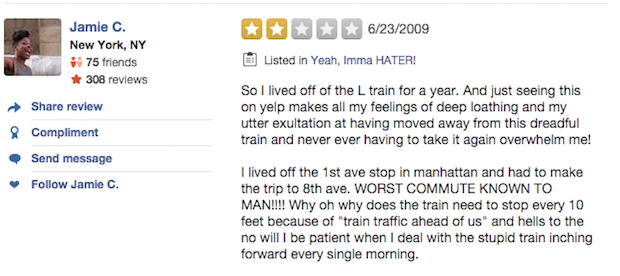 l train yelp reviews worst commute known to man