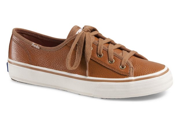 double up leather keds