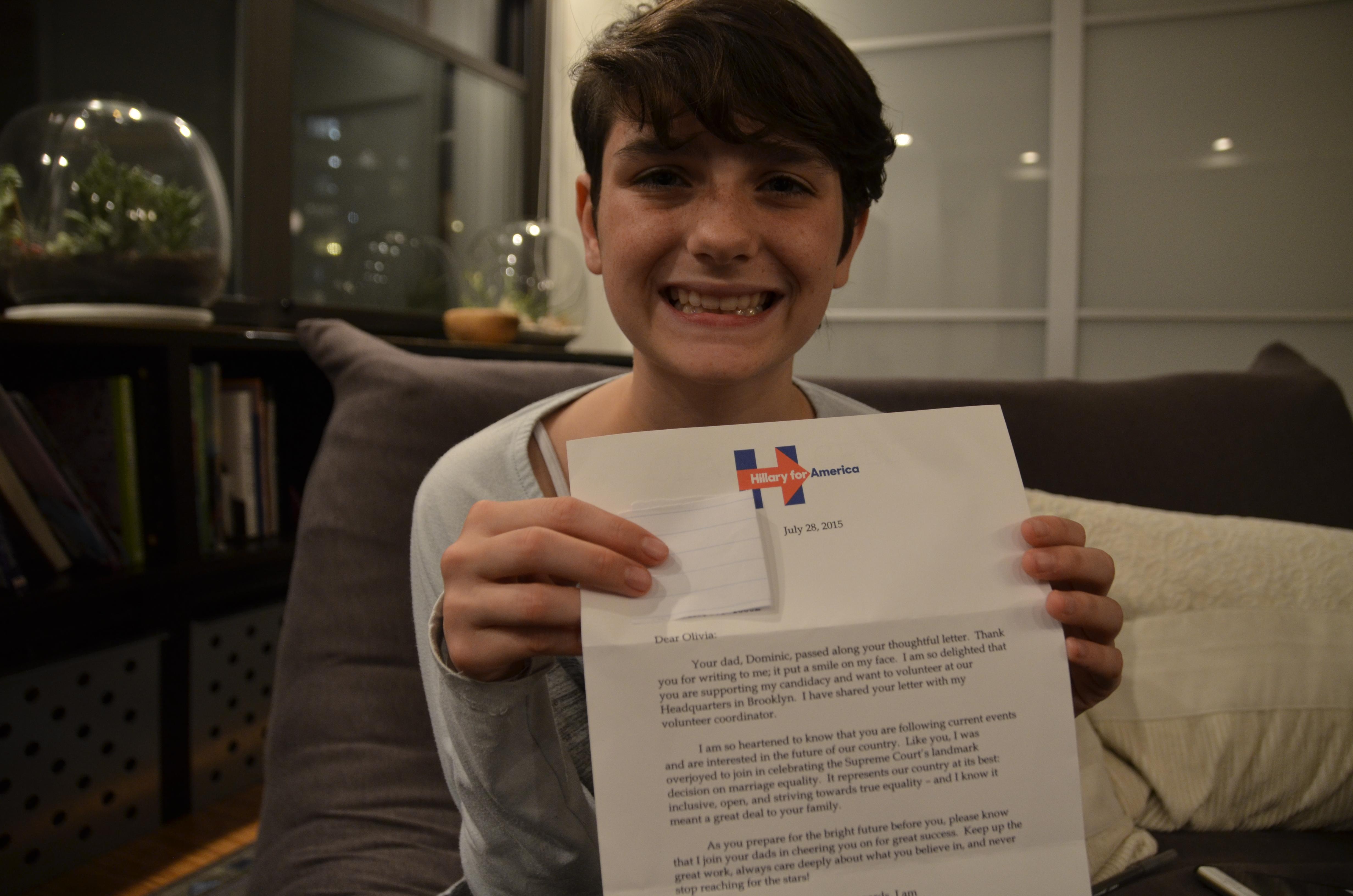Meet Hillary Clinton's 12-Year-Old 'Little Feminist' Fan ...