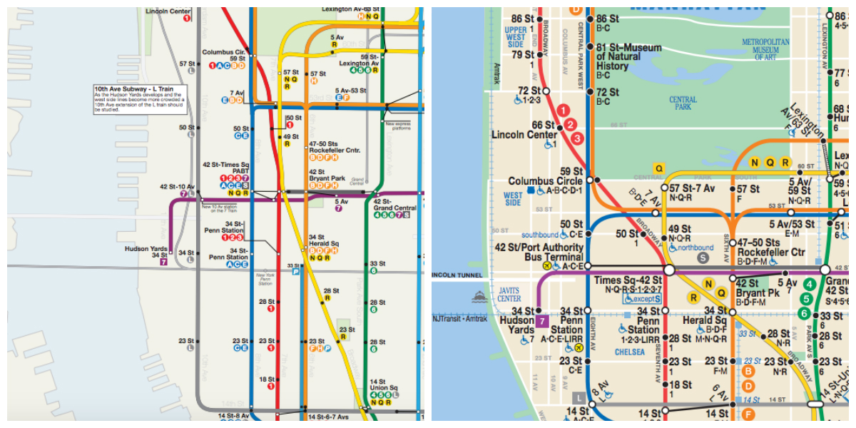 L Subway Map.Map See The Ideal Mta Subway System Midtown New York Dnainfo
