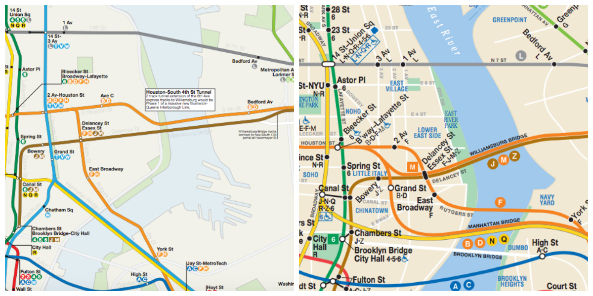 Ideal Nyc Subway Map Efficient.Map See The Ideal Mta Subway System Midtown New York Dnainfo
