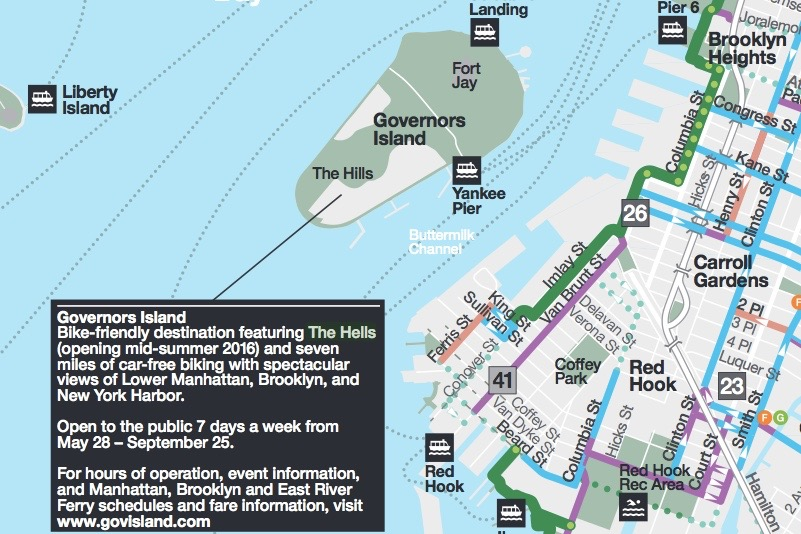 Governors Island Map on
