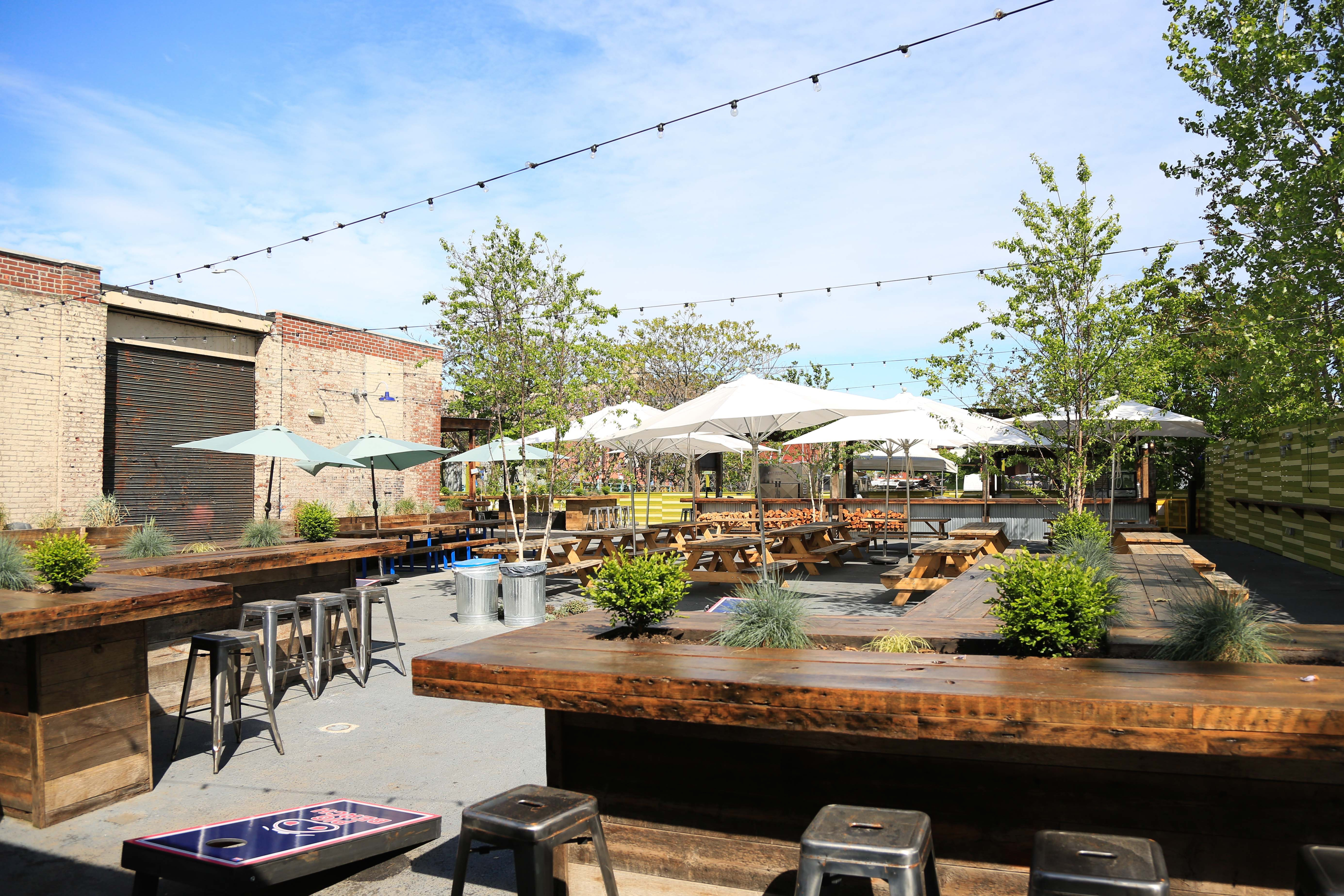 pig beach outdoor bbq plans year round service on gowanus canal