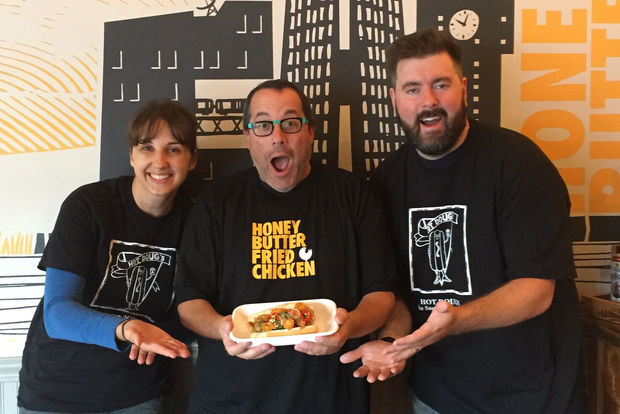 """Chefs/owners of Honey Butter Fried Chicken Josh Kulp and Christine Cikowski are teaming with Hot Doug's founder Doug Sohn to host the upcoming Sargent Shriver National Center on Poverty Law's fifth annual""""A  Taste for Change."""""""