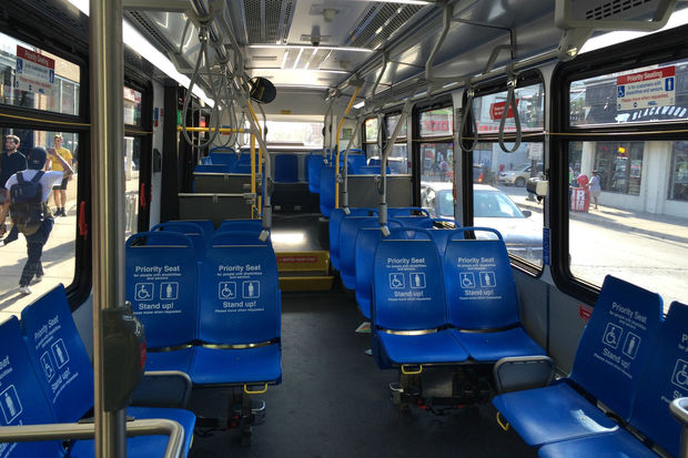 The CTA is testing seats with no fabric on some buses and