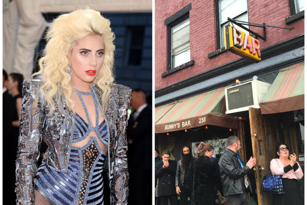 Lady Gaga released a teaser trailer that showed the singer walking into Red Hook's Sunny's Bar.