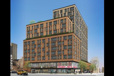 A preliminary rendering of the Trader Joe's coming to Essex Crossing.