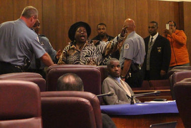 Queen Sister was ushered out of the City Council gallery after shouting profanities at Ald. Carrie Austin.