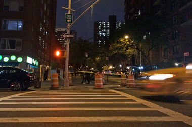 A female skateboarder was injured when she lost control and was struck by a vehicle at Amsterdam Avenue and West 94th Street Tuesday evening.
