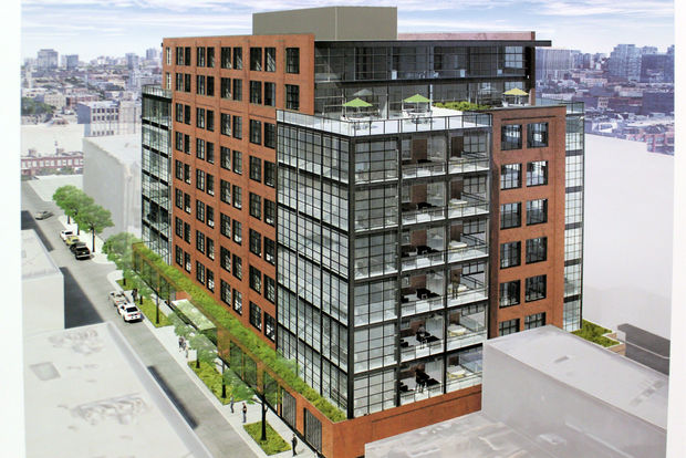 Renderings show plans for new nine-story residential building at 19-27 N. May St., part of a two building condo project proposed in the West Loop.