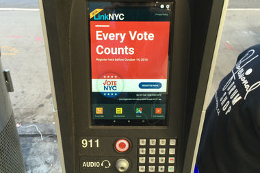 You can now register to vote using LinkNYC tablets.