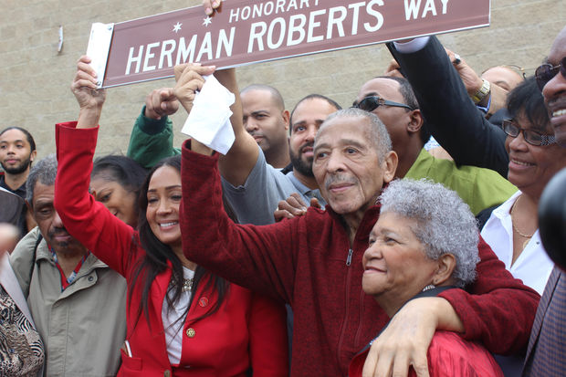 Herman Roberts, founder of the Roberts Motel chain, had an honorary street sign named after him on Oct. 7.