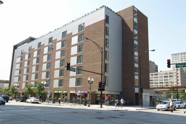 A 2007 photo of the building at 618 S. Wabash Ave. The high-rise caught fire Monday afternoon, firefighters said.