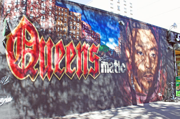 Nas mural in queensbridge pays tribute to rapper 39 s for Nas mural queensbridge