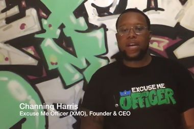 Channing Harris talks about his police accountability app, Excuse Me Officer, in a video posted on Youtube.