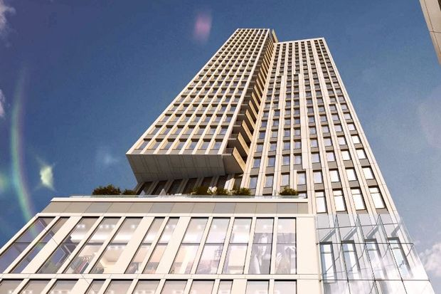 The Crossing in downtown Jamaica will include 669 apartments and retail space.