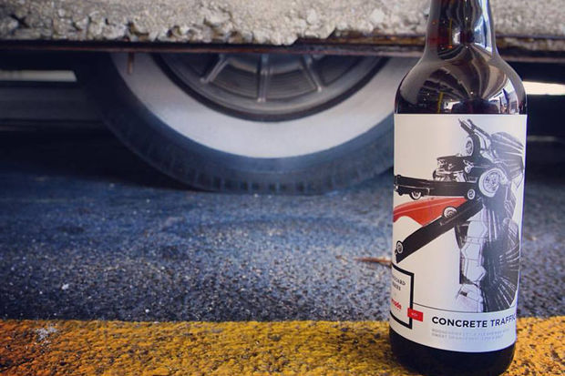 The Concrete Traffic beer is the first in a series of art-inspired brews from Avondale-based Arcade Brewery.
