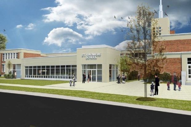 St. Barnabas Parish in Beverly has embarked on an ambitious expansion plan. The first phase of the plan adds classrooms to the school at 10134 S. Longwood Drive. The worship area will also see considerable investment.