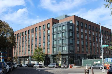 Tenants have already moved in to one of the newly completed Greenpoint Landing buildings.