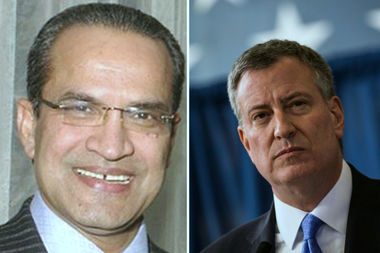The Department of Investigation has opened a probe into Husam Ahmad (left) and his two engineering firms, HAKS and SIMCO. Ahmad was a bundler for Bill de Blasio's 2013 campaign, and HAKS employees gave a total of $39,300 to the campaign.