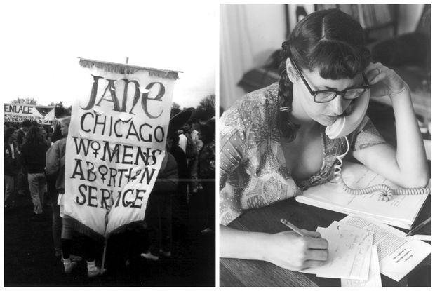 Images from the Jane Collective, which helped women obtain