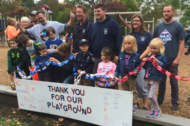 The ribbon cutting at Horner Park's new playground Saturday had added significance — it was the culmination of the Chicago Plays! initiative.