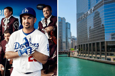Dodger Adrián González decided against staying at Chicago's Trump Tower with his team when they played the Cubs in May.
