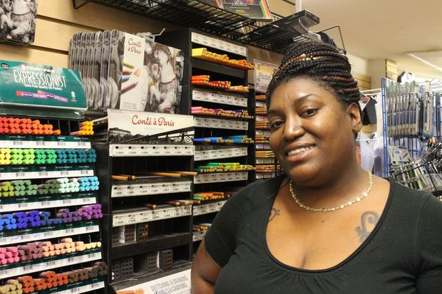 Fashion Design Books manager Irobia Allen, 32.