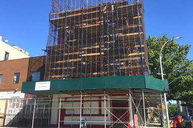 A former church building on Bedford and DeKalb avenues is being converted into apartments and retail space, according to plans filed with the city.
