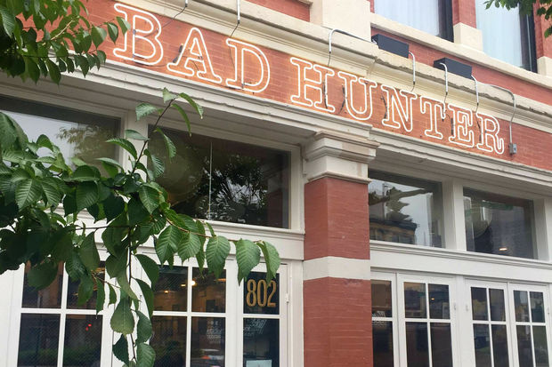 Bad Hunter, a new vegetable-focused restaurant, opens Wednesday next to the Lone Wolf on Randolph in the West Loop.