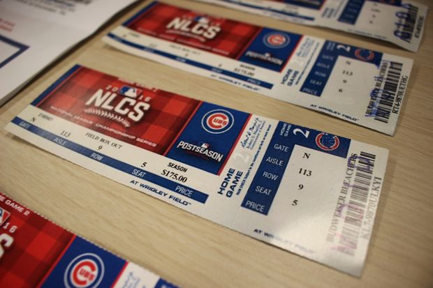 The Chicago Cubs are warning fans to be wary of tickets resold on Craigslist or by scalpers on the street. The club confiscated hundreds of fake tickets during the first six games of the postseason.