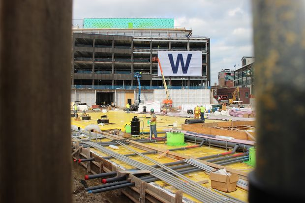Multiple massive projects are underway, and Wrigleyville is humming with construction work.