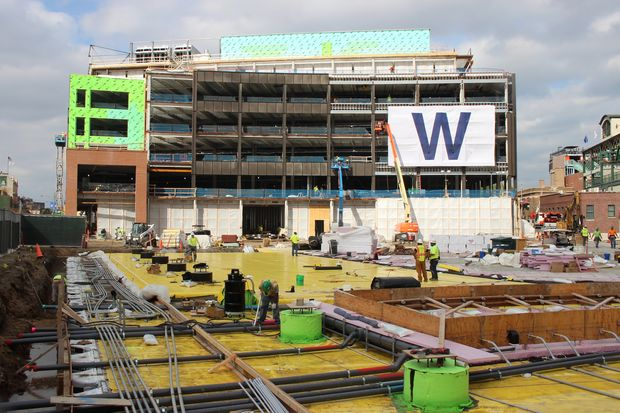 The third year of Wrigley Field offseason renovations include finishing the triangle plaza and digging out space for premiere clubs under the ballpark.
