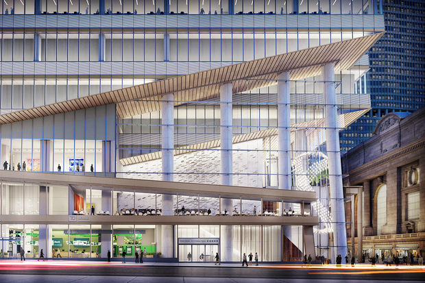 Officials broke ground at the site of One Vanderbilt, the planned 1,401-foot tower nearGrand Central.
