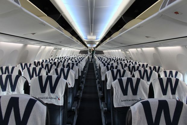 American Airlines is outfitting Chicago flights to Los Angeles this week with Cubs victory towels.