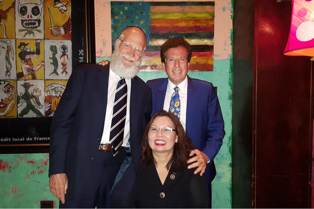 Legendary late-night talk show host David Letterman was spotted at a fundraiser for Congresswoman Tammy Duckworth Tuesday in the West Loop.