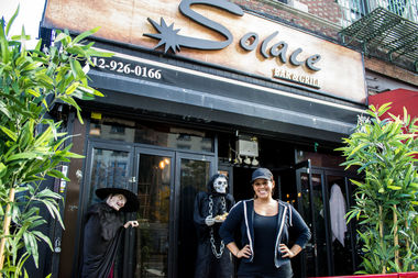 Marisol Solace is using her restaurant to hold double fundraisers for the people of Haiti devastated by Hurricane Matthew and needy families in Harlem.