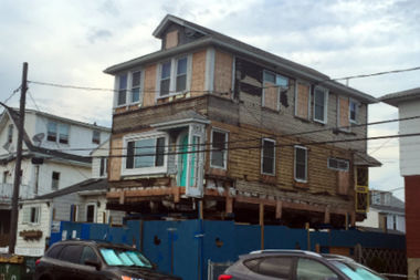 An elevated home in the city's Build It Back program.