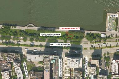 The memorial is planned for Hudson River Park between Bethune Street and West 12th Street.