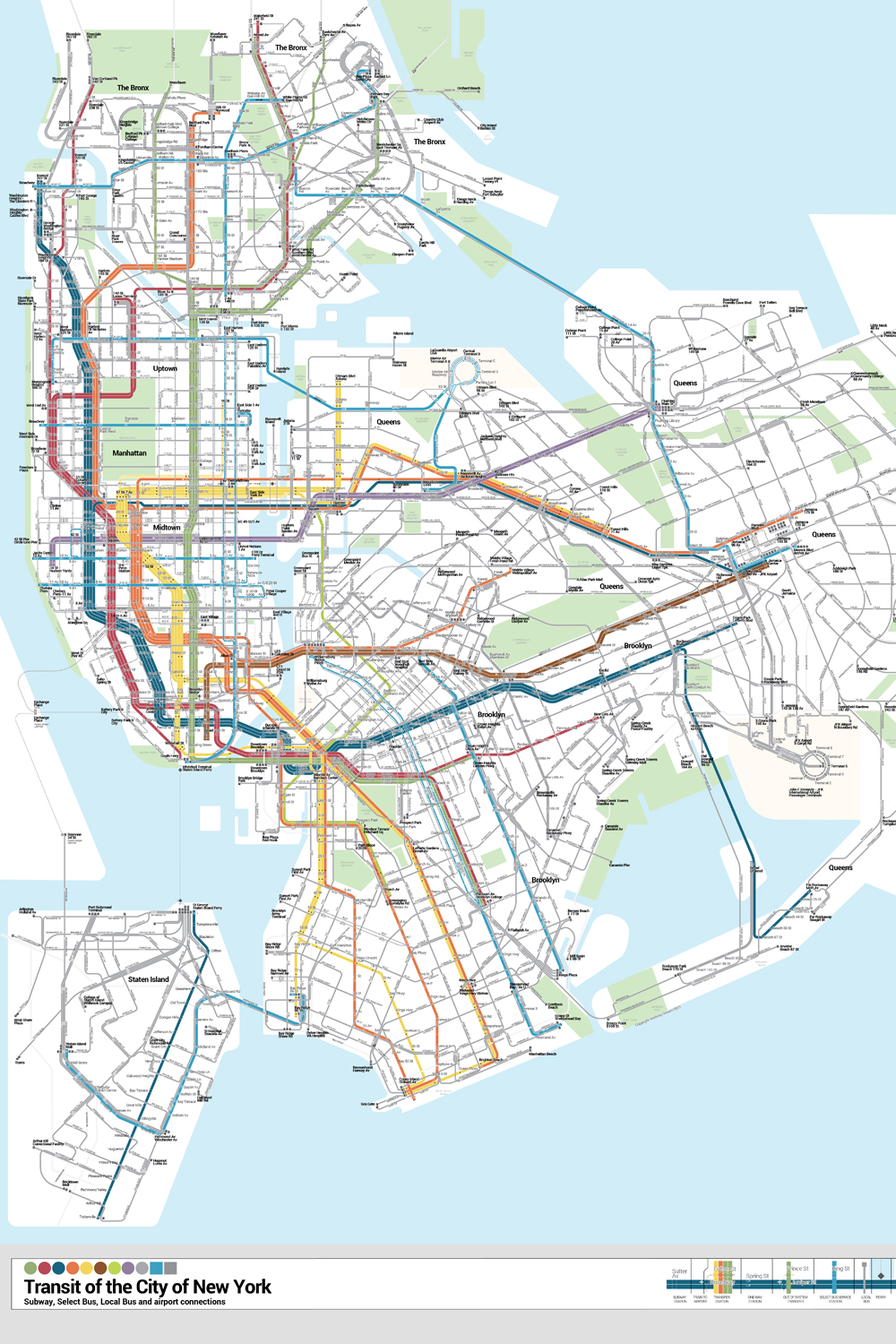 Queens And Manhatan Subway Map.This App Would Combine Nyca S Subway And Bus Maps For First Time