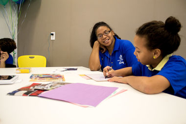 Students study at the new Boys and Girls Club clubhouse at the Residences at P.S. 186 on West 145th Street.