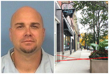 Armed with a gun, Clint Engle of suburban Plainfield entered a West Loop dental office looking for his girlfriend before fatally shooting himself Thursday.