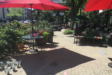 The remodeled patio at the New 400s Theaters in Rogers Park