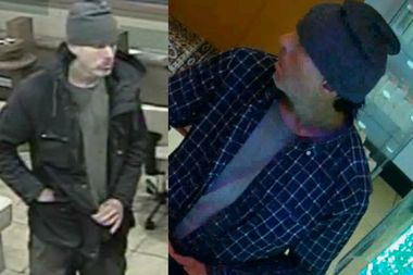 Police say this man has entered several nail salons and demanded money while threatening employees with gun violence.