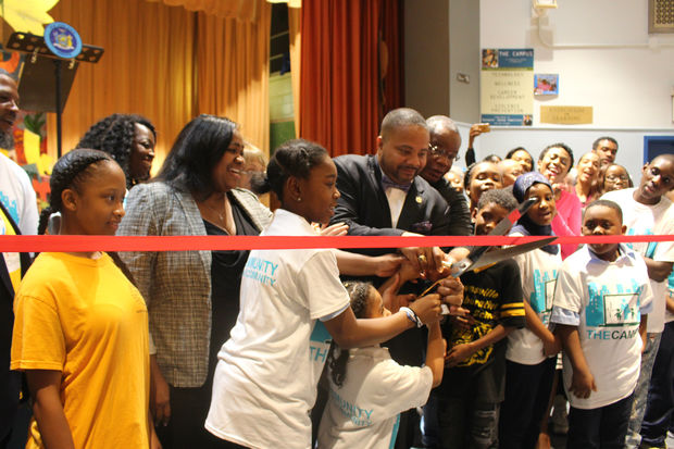 State Sen. Jesse Hamilton joined Brownsville students, education officials and local organizations at P.S. 298 to kick off The Campus, a technology and wellness hub for the neighborhood.